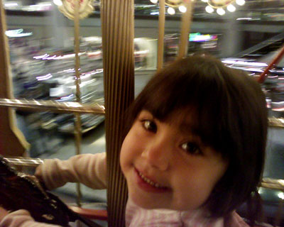 Ali on the Carousel